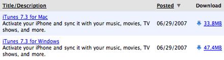 iTunes 7.3