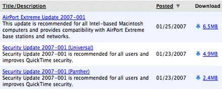 Security Update 2007-001
