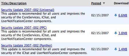 Security Update 2007-002