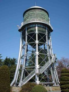 前橋市浄水場配水塔